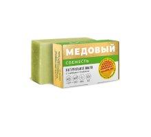 Мыло СВЕЖЕСТЬ с горными травами МЕДОВЫЙ 100 г Крымский Лекарь