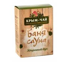 Чайная серия из трав и плодов для бани и сауны Здоровый дух 90 г Крым-чай