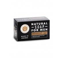 Натуральное твёрдое мыло для мужчин с комплексом водорослей Чёрного моря Для бани и сауны 180 г Ману