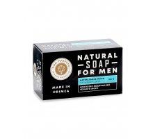 Натуральное твёрдое мыло для мужчин с комплексом водорослей Чёрного моря На каждый день 180 г Мануфа